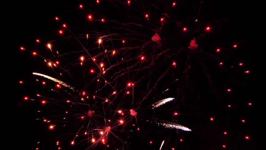 The fireworks in the night sky | Shutterstock HD Video #1029289568