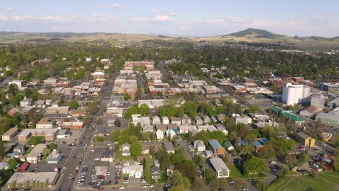 Aerial View Small Town America Over Moscow Idaho