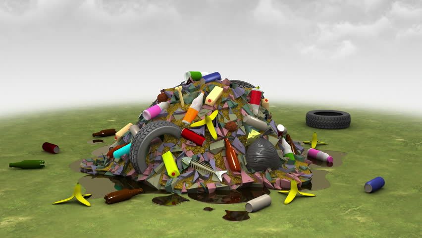 Garbage Monster. 3D animation.