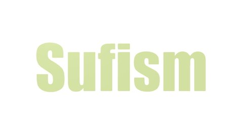 Sufism Word Cloud Animated On White Background