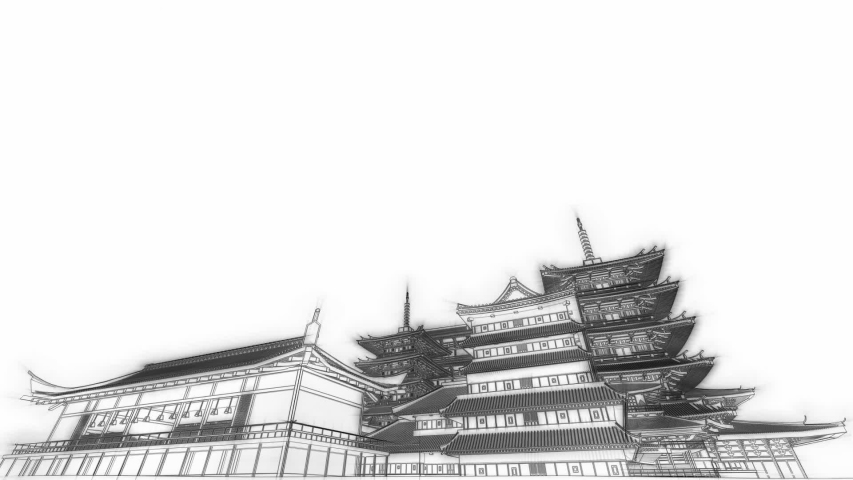 Japan Architecture 3d video animation | Shutterstock HD Video #1029991298