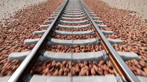 Cameraing along train tracks
