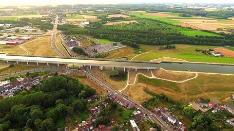 Pont Canal Du Sart Bridge In Belgium