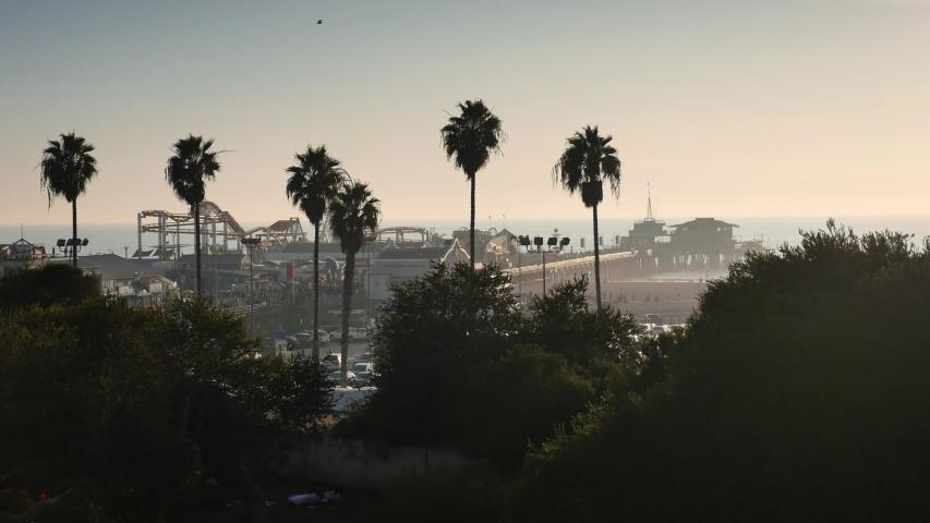 Nice view of Santa Monica Beach in California | Shutterstock HD Video #1030122968