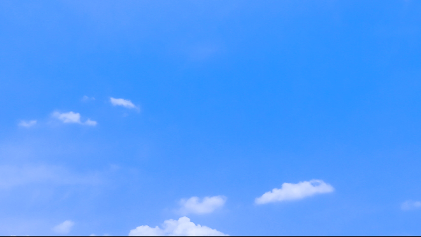 blue sky and moving clouds time lapse #1030159718