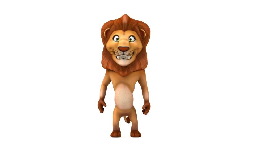 Lion walking - 3D 4K Animation | Shutterstock HD Video #1030240958