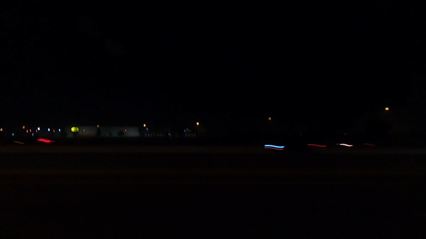 Driving plate POV side view driving at night in the dark | Shutterstock HD Video #1030326278