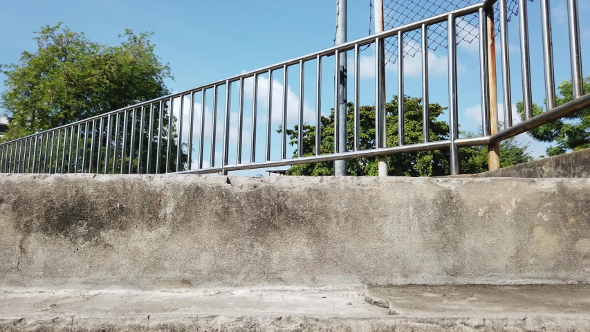Close up Concrete Stairs to Overpass Background.