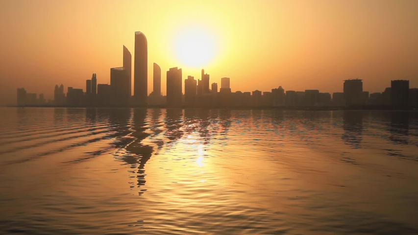 Sunrise in Abu Dhabi, United Arab Emirates | Shutterstock HD Video #1030374938