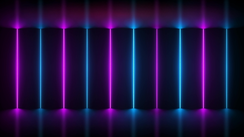 Neon Background. Purple and Blue Stock Footage Video (100%