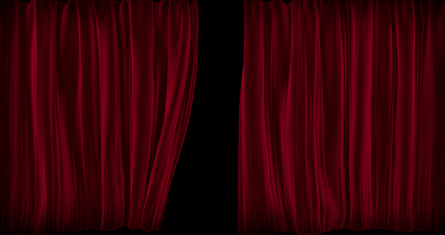 Curtain Open-Close Animation 4k with Alpha | Shutterstock HD Video #1030711898