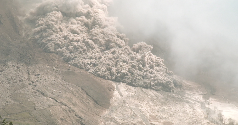 Pyroclastic Flow Sweep Down Side Of Volcano During Major Eruption - BungIII