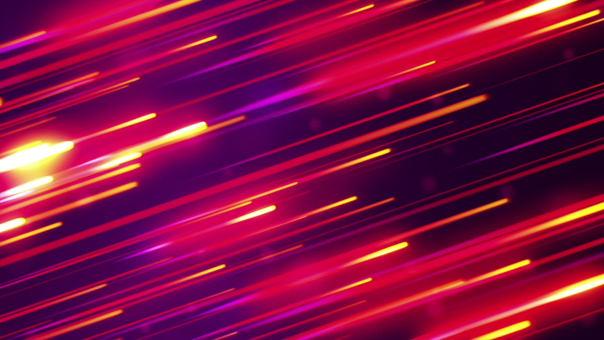 Falling glowing lines, abstract animation background. Seamless loop #1031166848