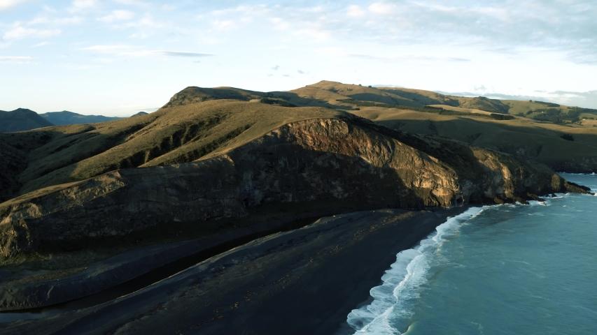 Sunset cliffs drone footage in New Zealand | Shutterstock HD Video #1031578928