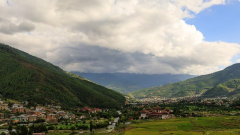 Time Lapse of the city of Thimphu, the capital of Bhutan.