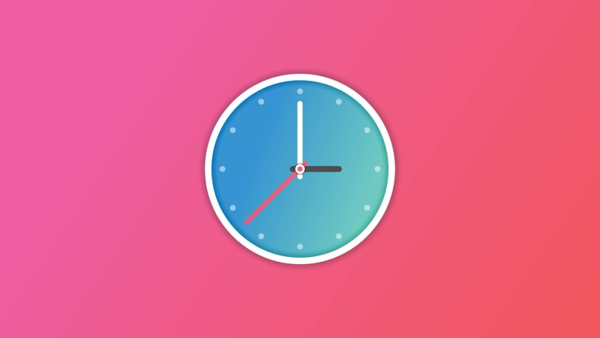 Animation Of Animated Clock Ticking Gradient Color Background | Shutterstock HD Video #1032789098