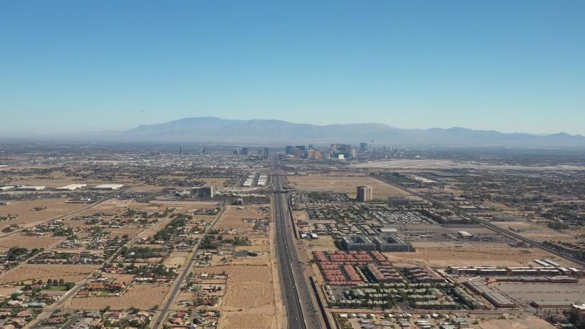 Drone Flight Over Las Vegas Nevada Suburbs   Shutterstock HD Video #1032843578