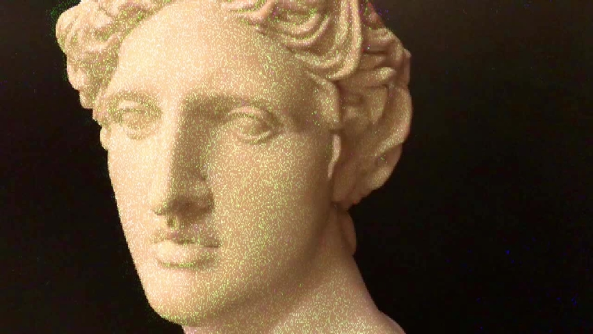 Apollo bust. Digital pixel noise glitch art effect. Retro futurism 80s 90s dynamic wave style. Video signal damage with tv noise and old screen interference. Retro wave, synth wave theme. | Shutterstock HD Video #1033051628