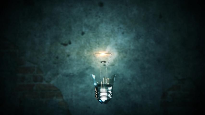 Exploding light bulb 4K Creative innovation idea concept on background    Shutterstock HD Video #1033401188