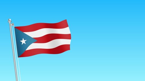 Rise of Puerto Rico flag . Puerto Rico flag