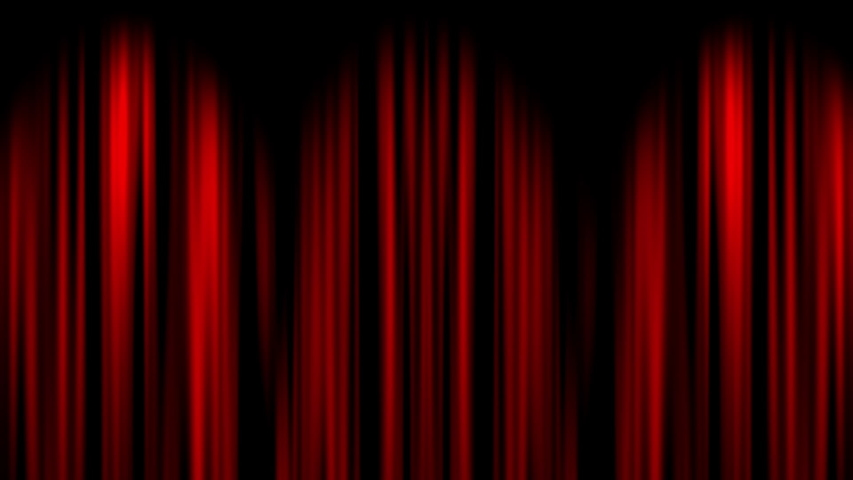This is a video of Red curtain opening Both Ends with green screen | Shutterstock HD Video #1033825028