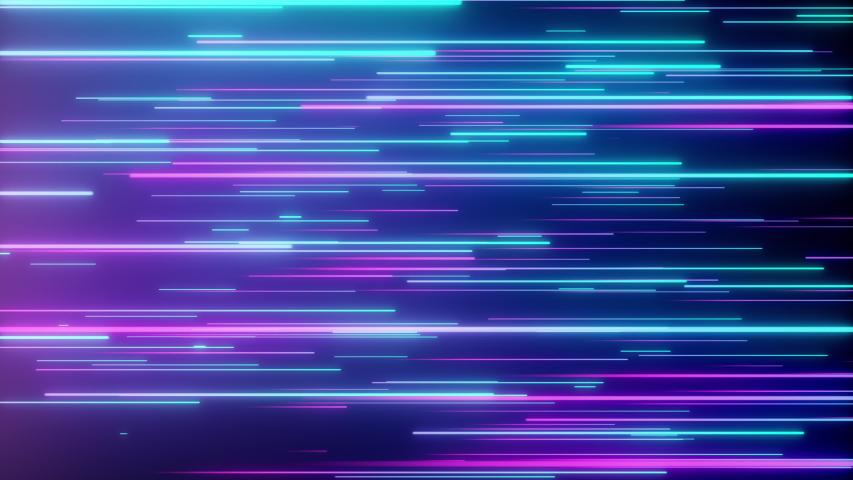 Abstract directional neon lines geometric background. Data flow. Optical fiber. Explosion star. Seamless loop 4k motion effect. Blue purple modern light spectrum, fluorescent ultraviolet light. | Shutterstock HD Video #1033955708