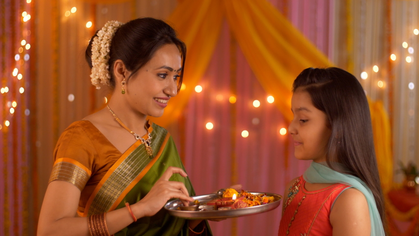 Mother Putting Tilak On Young Stock Footage Video (100% Royalty-free)  1034206478   Shutterstock