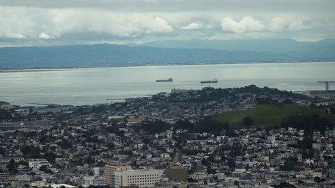 This stunning wide angle view of the Bay Area in California is an epic establishing shot for opening credits, films, documentary inserts, commercials and more!  Shot in 4K UHD resolution.