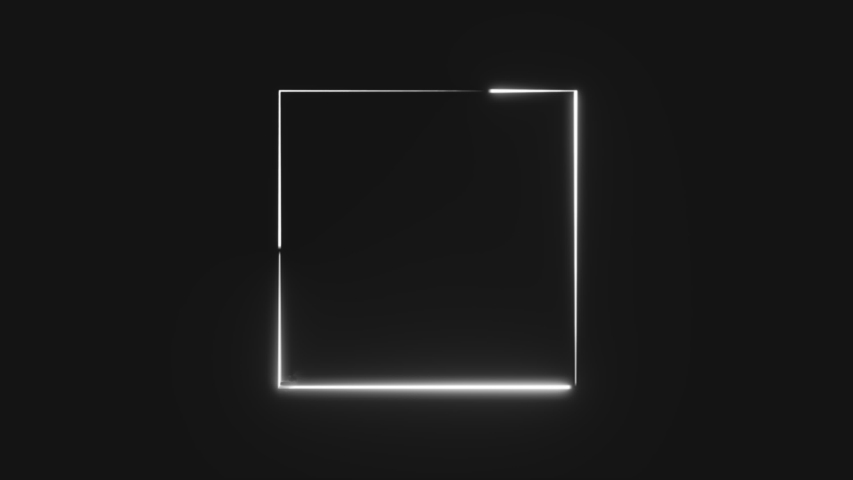 Abstract neon square frame. Seamless loop | Shutterstock HD Video #1034570738