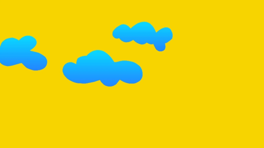 Cloud and rainbow backgrounds result from rendering | Shutterstock HD Video #1034781668