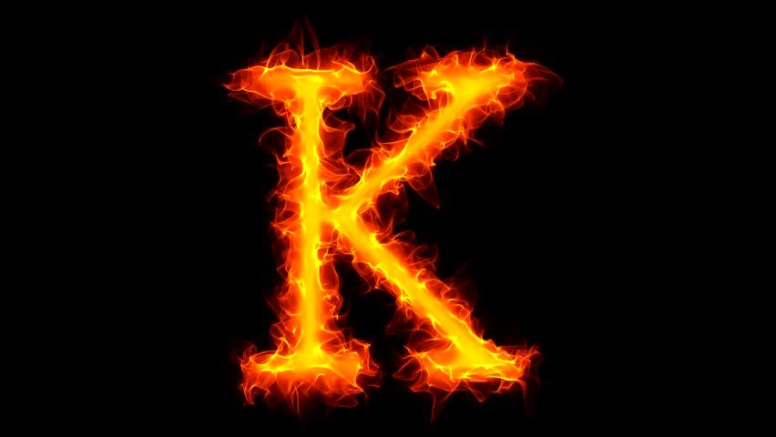 Letter k on fire stock footage video 1034788 shutterstock thecheapjerseys Choice Image