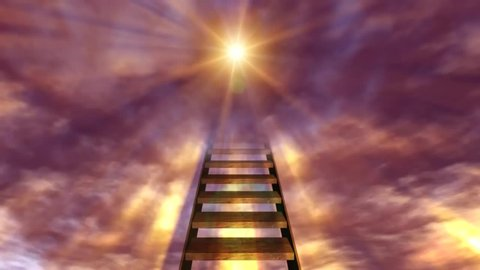 Stairways to heaven animated abstract background.