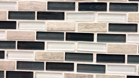 Mosaic, ceramic and glass kitchen and bathroom tiles, abstract pattern, can be used as a backsplash or decorative accent in the tiled walls