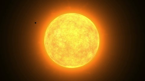 Transit of Venus in front of the Sun