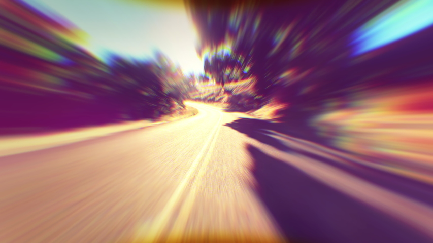 Warped and Distored Driving Wide Angle View Driving Down Country Road   Shutterstock HD Video #1035019508
