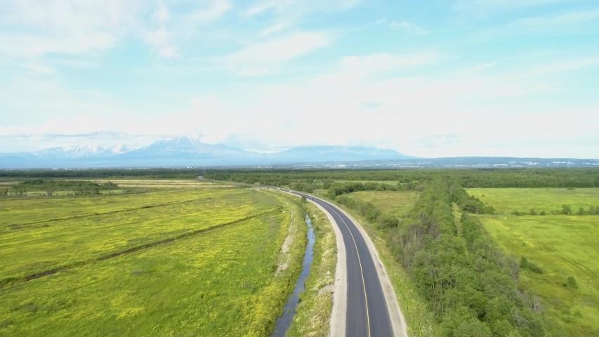 Drone flight over the highway | Shutterstock HD Video #1035034448