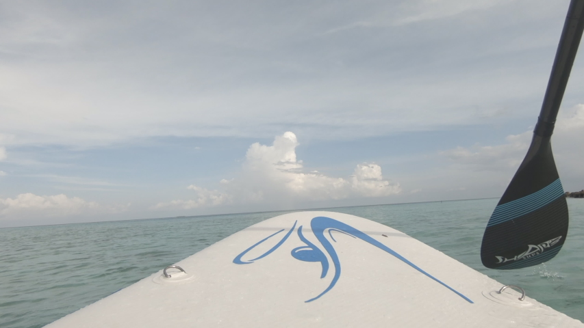 Stand Up Paddle Boarding First View | Shutterstock HD Video #1035038378