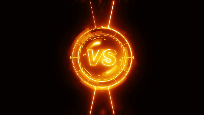 Futuristic sports game loop animation. Versus fight background. Radar neon digital display. VS. Game control interface element. Battle fight sports competition. | Shutterstock HD Video #1035187238