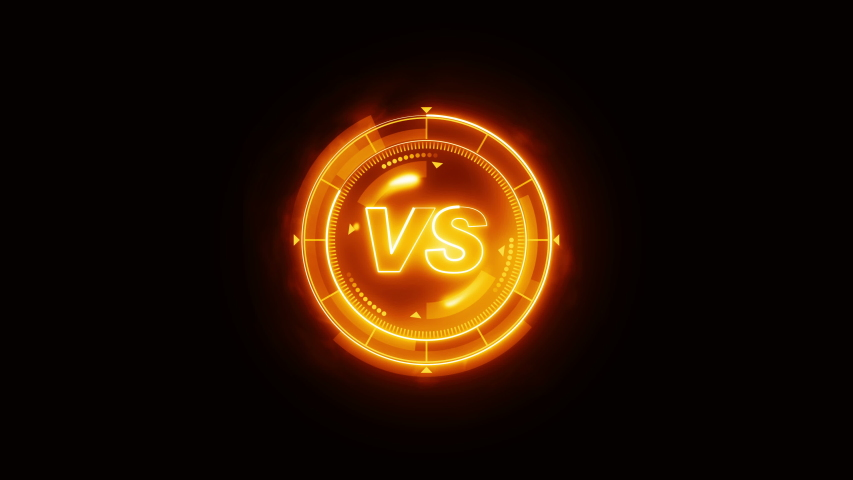 Futuristic sports game loop animation. Versus fight background. Radar neon digital display. VS. Game control interface element. Battle fight sports competition. | Shutterstock HD Video #1035187268