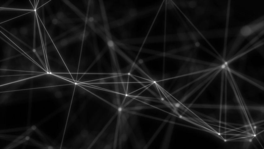Geometric poly light motion background. Flight into cosmic web structure. | Shutterstock HD Video #1035326288