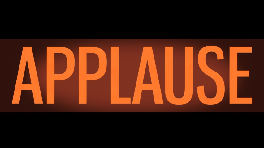 Retro Vintage Style TV Studio Glowing Orange Audience Applause Sign | Shutterstock HD Video #1035552908