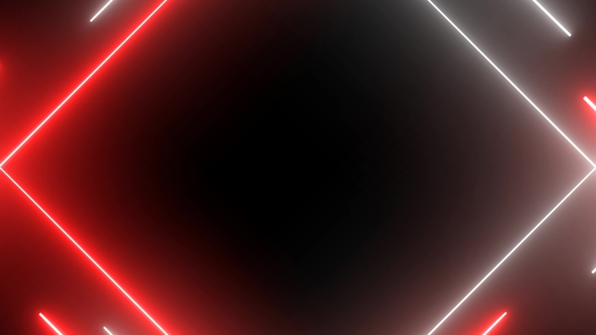 Neon lights abstract motion animated background. Abstract motion lighting equipment and lights effects. Triangle lights. Neon lights red and neon light white. | Shutterstock HD Video #1035635978