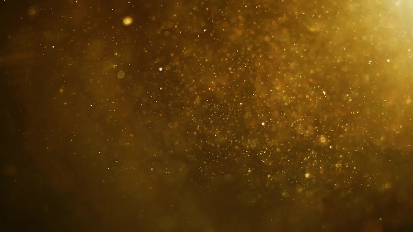 Yellow dust particles floating in the air | Shutterstock HD Video #1035674618
