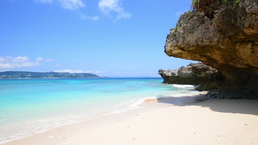 Amazing View From Cave To The Tropical Beach Island Bail With