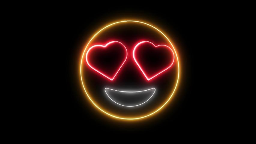 Smile in love emoticon video animation   Shutterstock HD Video #1036485188