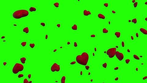 3d hearts falling rain falling green screen falling 3d hearts love rain love green screen love 3d hearts valentine rain valentine green screen valentine 3d hearts romantic rain romantic green screen