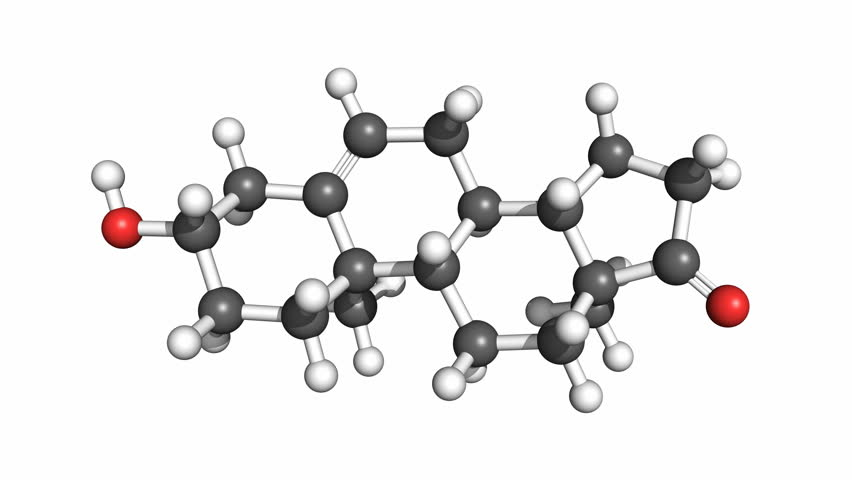 rotating lactose molecule  ball and stick model  atoms are