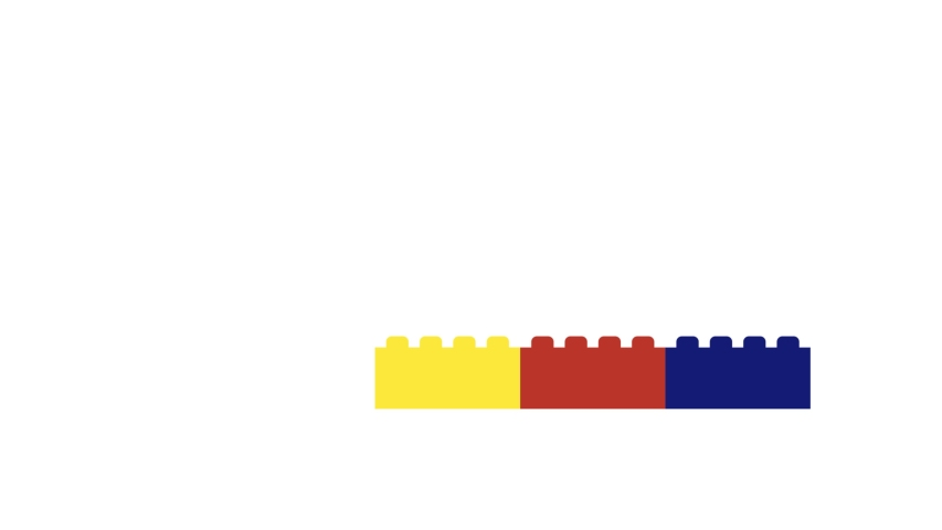 Motion design animation of plastic bricks building up | Shutterstock HD Video #1037060648
