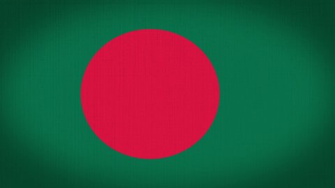 Loop, Real Looking Fabric Texture and Wavy Bangladesh Flag Animation, 2D and 4K Motion Graphics