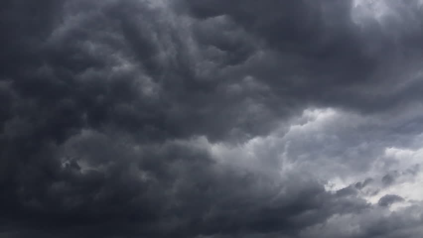 Dramatic storm clouds approaching and building and dispersing in time lapse #10371818